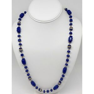 J. Crew Royal Blue Beaded Necklace